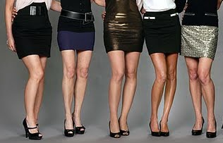 cellulite gone late middle age women in mini skirts