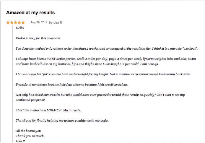 lisa r testimonial august 29 2014
